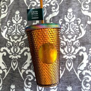 Starbucks Studded Honeycomb Copper Grande Cold Cup
